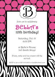 template stylish birthday party invitation card templates with