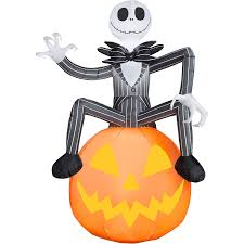 jack skeleton halloween amazon com 6 ft jack skellington pumpkin inflatable decorations