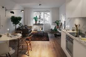 stylish 420 square foot small apartment with modern scandinavian