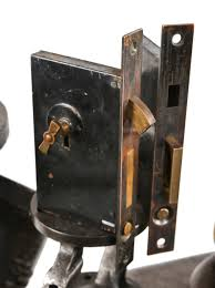 Mortise Locksets Matching Interior Residential Unornamented Late 19th Century