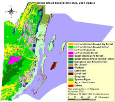 Map De Central America by Biodiversity In Belize Ecosystems Map