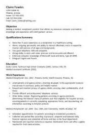 Medical Receptionist Sample Resume by Sample Resume Medical Receptionist Resumes Design Madeleine