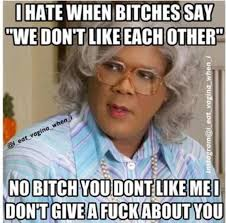 Fuck Bitches Meme - i hate it when bitches be like we don t like each other no bitch