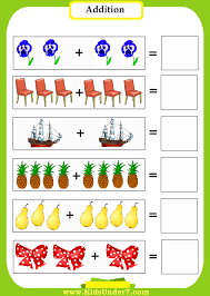 addition worksheet for preschool koogra