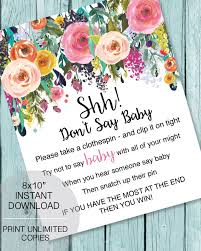 clothespin baby shower printable don t say baby clothespin baby shower garden