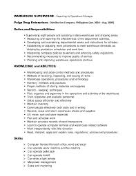 Sample Resume For Warehouse Supervisor Dissertation Chapter Ghostwriters Site Usa Auto Thesis