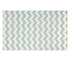 Pottery Barn Zig Zag Rug Wool Chevron Rug 3x5 Aqua White Pottery Barn