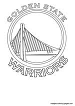 basketball logo coloring pages golden state warriors nba coloring pages
