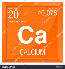 modern periodic table of elements with atomic mass calcium symbol element number 20 periodic stock vector 518203750