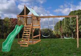 classic fort wooden swing set kit