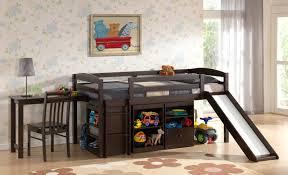 Bunk Bed With Slide Bedroom White Wood Loft Bed With Slide Bed With Slide