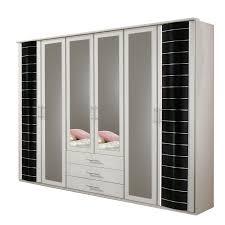 Schlafzimmerschrank Streichen Kleiderschrank Yvonne Schlafzimmer Schrank In Alpinweiß Schwarz