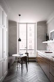 plan de travail cuisine effet beton design interieur comment amenager une cuisine en longueur parquet