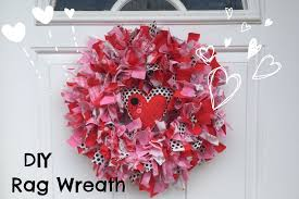 Valentines Day Stage Decor how to make rag wreath diy valentines day decor easy fabric