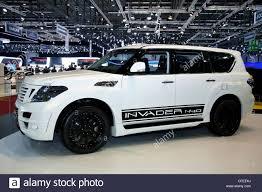nissan patrol nissan patrol invader n40 at the geneva motor show 2012 stock