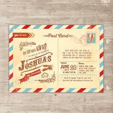 vintage travel birthday invitation from splashboxprintables on
