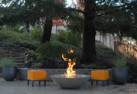 Modern Fire Pits by Modern Fire Bowls Deck Contemporary With Turquoise Wall