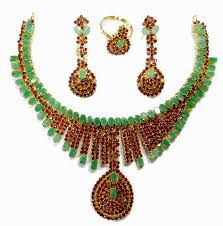 earrings necklace images Nice bridal design ruby emerald necklace with matching earrings jpg