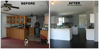 Remodel Single Wide Mobile Home by Manufactured Home Kitchen Renovation Carpet Replaced With Plywood