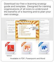 e learning strategy guide and template gavin