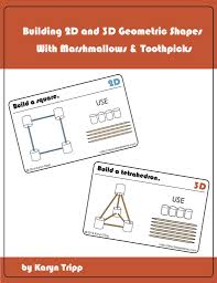 learn 2d and 3d shapes marshmallow and toothpick geometry cards teach beside me