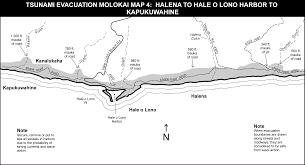 Molokai Map Hawaii State Tsunami Evacuation Maps