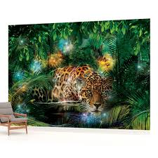 wall mural photo wallpaper picture 1333p jungle forest leopard wall mural photo wallpaper picture 1333p jungle forest leopard ebay