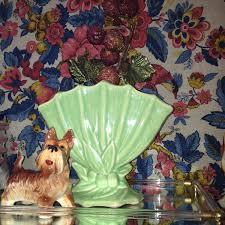 Mccoy Vase Value Mccoy Vase Leaf And Berry Fan Vase Vintage Mccoy Pottery Ceramic