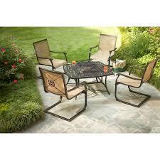 Home Depot Martha Stewart Patio Furniture - martha stewart living solana bay 5 piece patio fire pit set asc