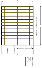 shed floor plan shed foundation skid