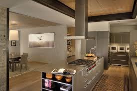 kitchen island with range stainless steel range hood kitchen contemporary with kitchen within