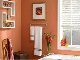small bathroom paint color ideas pictures coral wall color with decorative shelves for small bathroom