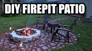 diy firepit patio with stepping stones made with a mold garden