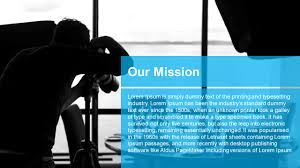 free powerpoint modern business template mission slidemodel