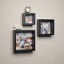 Box Shelves Wall by Amazon Com Photo Frame Wall Cube Shelf Set Set Of 3 Home U0026 Kitchen