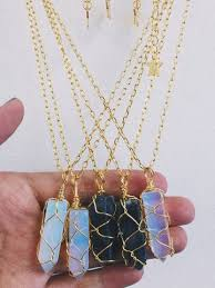 make crystal necklace images How to make a crystal pendant necklace la necklace jpg