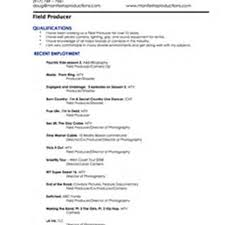 Production Manager Resume Television Line Producer Resume Template Professional Television Executive
