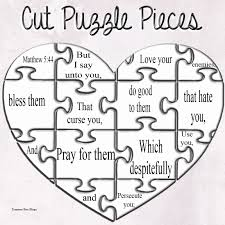 matthew 5 44 make your own puzzle craft kids crafts