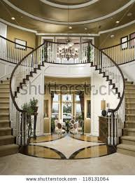 Entry Stairs Design Beautiful Entry Staircase This Luxury Stairway Stock Photo