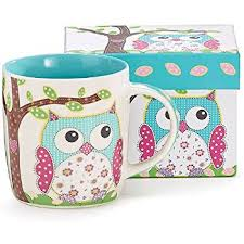 owl mug burton burton calico owl mug 14oz coffee cups mugs