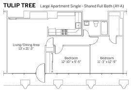 mile one centre floor plan iu rps tulip tree apartments