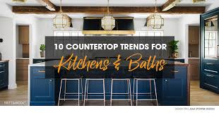 what is the newest trend in kitchen countertops 10 countertop trends for kitchens and bathrooms in 2019