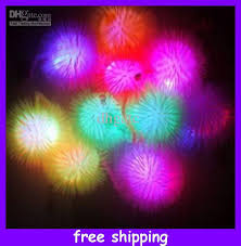 ball with light inside hedgehog ball light flash plush ball glow toys yoyo elastic ball