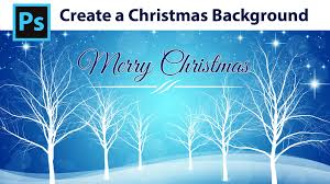 photoshop tutorial how to create a winter christmas background