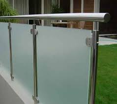 frosted deck railing glass panels glass railings outdoor safety
