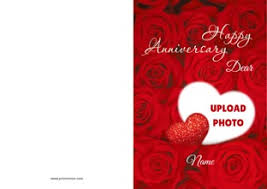 anniversary greeting cards anniversary greetings personalize greeting cards printvenue
