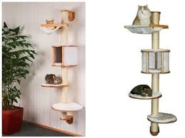 designer kratzb ume kratzbaum wand wandkratzbaum 1 68m design katze kratzmöbel