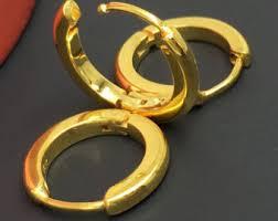 mens gold earrings black earrings with gold bead for men mens earrings unisex