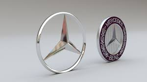 mercedes logo mercedes logo set 3d model in parts of auto 3dexport