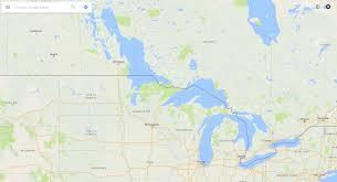 Google Map Michigan by Lake Winnipeg Imaginarymaps